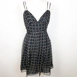 Milly of New York Dresses - Milly Silk Sundress Black & Cream Polka Dot O